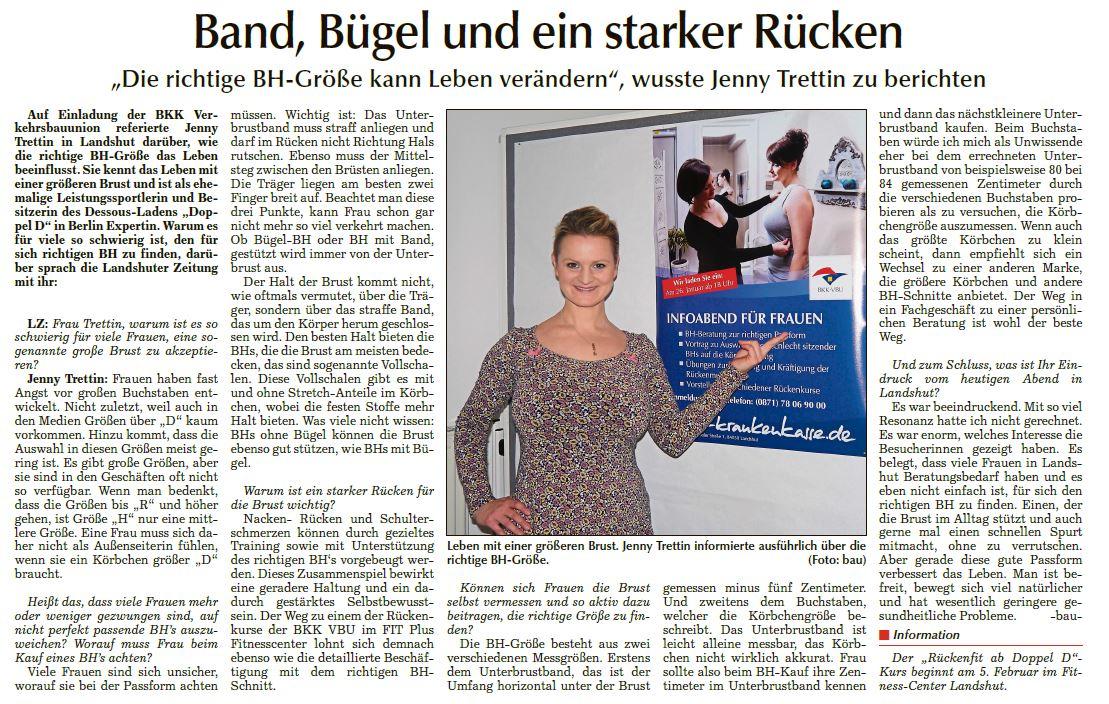 Doppel D-Inhaberin Jenny Trettin im Interview mit der Landshuter Zeitung