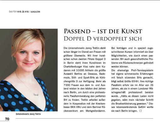 Doppel D in der aktuellen Ausgabe der Berlin vis à vis 2